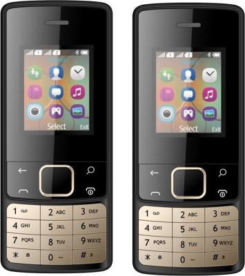 I Kall K20 New Combo of Two Mobiles(Black)