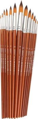 Chrome WN 8004 Artist Brush.(Set of 13, Brown)
