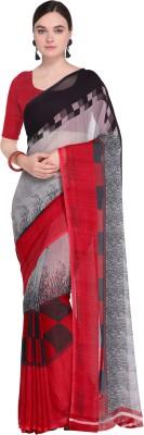 Ligalz Printed Daily Wear Chiffon Saree(Maroon) Flipkart