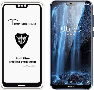 Express Buy Edge To Edge Tempered Glass for Nokia X6/ Nokia 6.1 Plus (5D Tempered Glass)(Full Glue Glass)(Pack of 1)