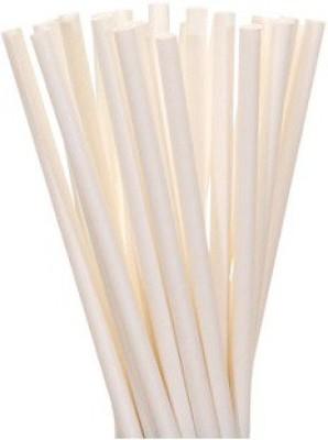 Ezee Straight Drinking Straw(White, Pack of 4)