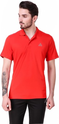 Delta Sports Solid Men Polo Neck Red T-Shirt