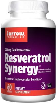 Jarrow Formulas Resveratrol Synergy, 200 mg Total Resveratrol, 60 Tablets(60 No)