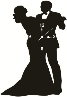 Enamiss decor Analog 9 cm X 9 cm Wall Clock(Black, Without Glass)