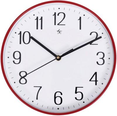 Flipkart SmartBuy 22.5 cm Analog Wall Clock (Red, White, With Glass) 1