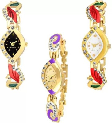 PARALLEL TIMES Presenting the Combo of 10 watches For Girls With Casual+Party wedding+Formal Watch  - For Women