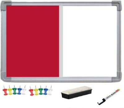 JAGMONI Non Magnetic Non magnetic Melamine Medium Whiteboards and Duster Combos(Set of 1, Red)