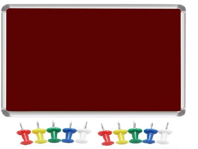 JAGMONI Regular Non magnetic Fabric Medium Whiteboards and Duster Combos(Set of 1, Red)