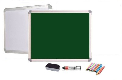 JAGMONI Non Magnetic Non magnetic Melamine Medium Whiteboards and Duster Combos(Set of 1, Green)