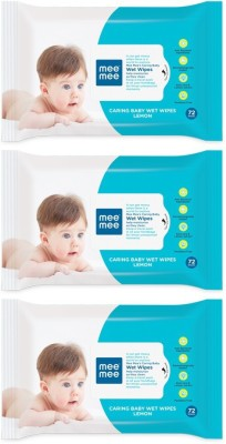 Mee Mee Caring Wet Baby Wipes, 72 Pieces (Pack Of 3)