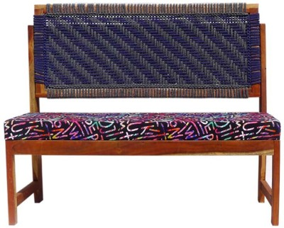 Reme Solid Wood 3 Seater(Finish Color - Blue & Grey with multicolored spuch)