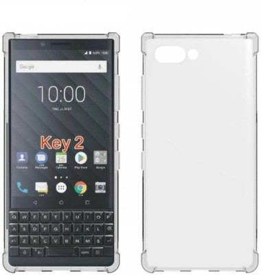 Rosaline Back Cover for Blackberry Key 2 (Case Cover)(Transparent, Grip Case, Rubber, Silicon)