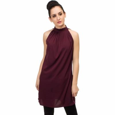 FabAlley Women Shift Maroon Dress