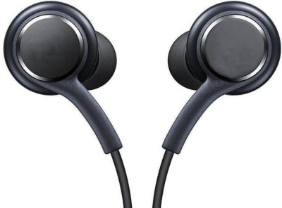 nick jones Earphone Akg Compatible samung j7 Earphone With Mic Wired Headset with Mic(Black, In the Ear)