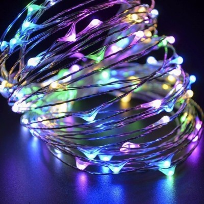 Copper String LED light 05 MTR 50 LED USB Operated Decorative Lights  MULTI COLOUR  208.66 inch Multicolor Rice Lights