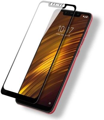 CHVTS Edge To Edge Tempered Glass for POCO F1(Pack of 1)