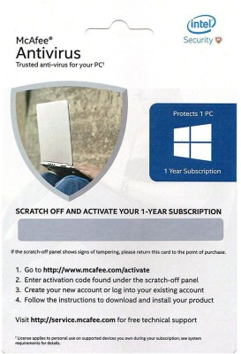 McAfee Activation scratch card