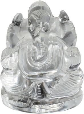 Sakshi Crystal Beautiful ganesh murti Decorative Showpiece  -  10 cm(Stone, Clear) at flipkart