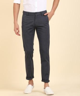 Arrow Sport Slim Fit Men Black Trousers