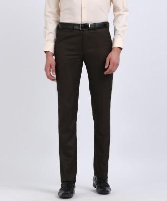 V DOT BY VAN HEUSEN Regular Fit Men Brown Trousers