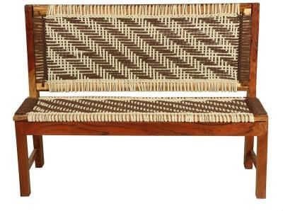 Vintej Home Solid Wood 2 Seater(Finish Color - TEAK FINISH)