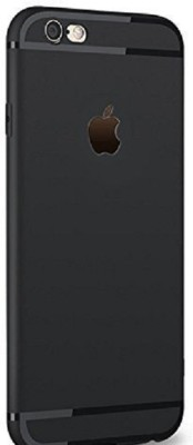 DIPSI Back Cover for Soft Paper Back Cover Case with Anti Dust Plugs for iPhone 6/6S (Black) Ultra Thin(BLACK, Dual Protection, Plastic)