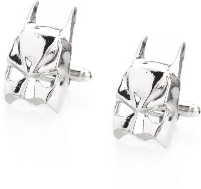 Shining Jewel Brass Cufflink Set(Silver)