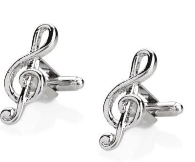 Shining Jewel Brass Cufflink Set(Silver)