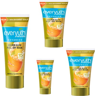 EVERYUTH NATURALS 1 GOLDEN GLOW PEEL-OFF MASK 90 GM+1 GOLDEN GLOW PEEL-OFF MASK 30 GM+2 GOLDEN GLOW PEEL-OFF MASK 50 GM +(50 g)