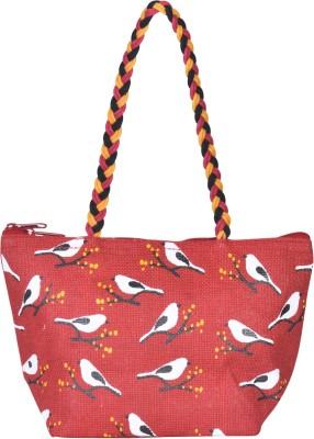 Jute Cottage Women Red Hand held Bag
