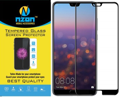 nzon Edge To Edge Tempered Glass for Honor P20 Pro 5D Original Full Coverage Curved Scratch Proof Bubble Free 0.3mm Tempered Glass for Honor P20 Pro Screen Protector - Black(Pack of 2)