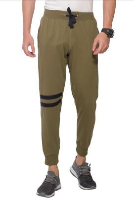 Alan Jones Colorblock Men Green Track Pants