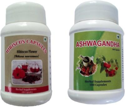 biomed HIBISCUS,ASHWAGANDHA CAPSULES 100 No biomed Vitamin Supplement