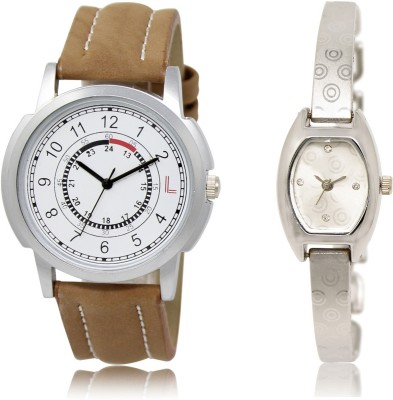 Frolik 17-219 Stylist Design Formal Collection Brown And Silver Color Men And Woman Watch  - For Boys & Girls