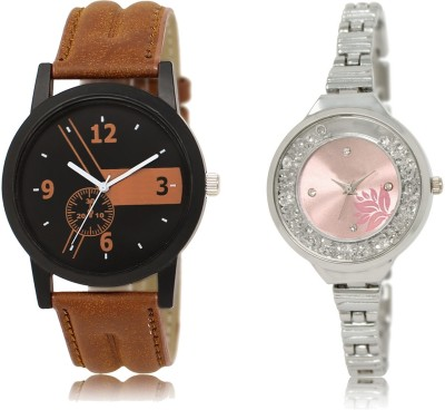 Meher Collection Stylish Metal Strap and Leather Strap watch Watch  - For Men & Women