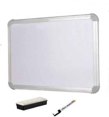JAGMONI Non Magnetic Non magnetic Melamine Medium Whiteboards and Duster Combos(Set of 3, White)