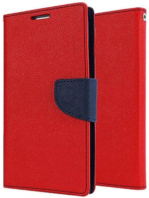 Shopsji Flip Cover for Red Mercury Flip Cover, Wallet Case for Universal 4.3in(Red, Waterproof)