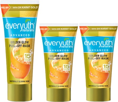 EVERYUTH NATURALS 2 GOLDEN GLOW PEEL-OFF MASK 50 GM +1 GOLDEN GLOW PEEL-OFF MASK 90 GM(50 g)