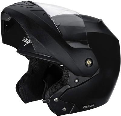 VEGA CRUX BLACK Motorbike Helmet(Black)