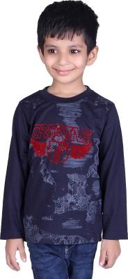 CH1 Boys Printed Cotton T Shirt(Multicolor, Pack of 1) Flipkart
