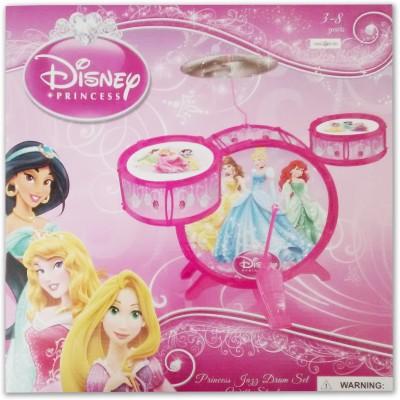 Playwell Disney Princess Jazz Drum Set with Stool(Pink)