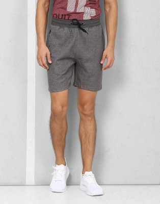 Metronaut Athleisure Solid Men's Grey Sports Shorts
