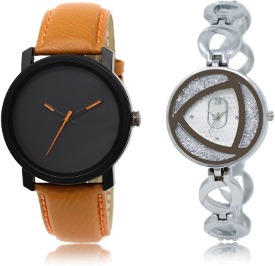 Frolik LREM 20-240 Stylist Design Formal Collection Set Of 2 Brown And Silver Color Men And Woman Watch  - For Boys & Girls