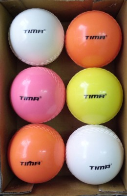 Tima WIND PVC/Synthetic Training Coaching Soft Incredible Swing Practice Cricket Balls Cricket Synthetic Ball Pack of 6, Multicolor Tima Cricket Balls