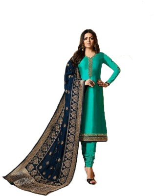 JIVA Georgette Embroidered Semi-stitched Salwar Suit Dupatta Material