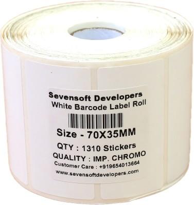 Sevensoft Developers 70X35MM Dubble Paper Barcode Label Self adhesive Paper Label White