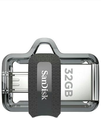 SanDisk ULTRA Dual Drive, M3.0 32 GB Pen Drive(Black, Silver)
