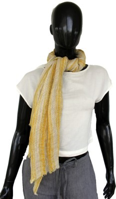 linens and buttons Striped Cotton Linen Blend Women Stole