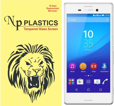 npplastics Tempered Glass Guard for Sony Xperia M4 Dual(full body cover Glass)(Pack of 1)