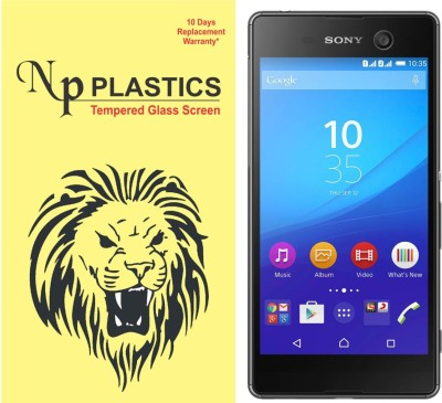 npplastics Tempered Glass Guard for Sony Xperia M5 Dual(full body cover Glass)(Pack of 1)